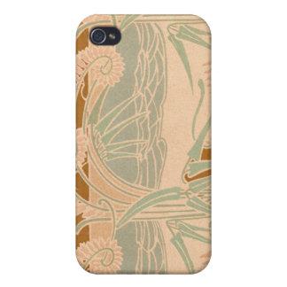 Antique Art Nouveau Stylized Sea Scape Print iPhone 4/4S Case