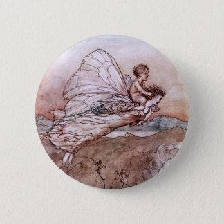 Antique Arthur Rackham Fairy Illustration Button