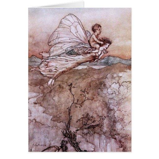Antique Arthur Rackham Fairy Illustration Greeting Card