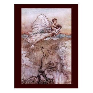 Antique Arthur Rackham Fairy Illustration Postcard