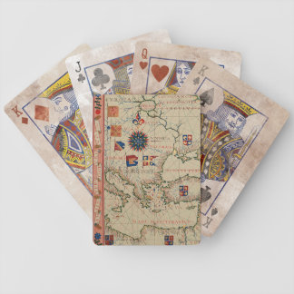 Antique Asia Minor Map Bicycle Playing Cards