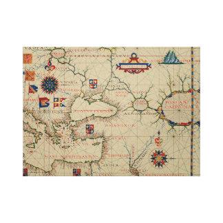 Antique Asia Minor Map Canvas Print