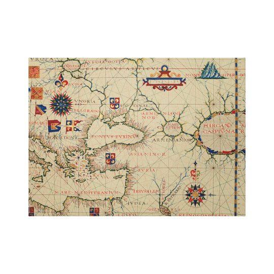 Antique Asia Minor Map Canvas Print