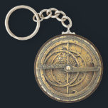 "Antique Astrolabe 2 Keychain<br><div class=""desc"">The Astrolabe,  an ancient astronomical computer used for solving problems relating to time and the position of the Sun and stars in the sky. Perfect theme for timekeeping.</div>"