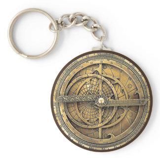 Antique Astrolabe 2 Keychain