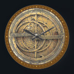 "Antique Astrolabe 2 Large Clock<br><div class=""desc"">The Astrolabe graces the face of the clock. An ancient astronomical computer used for solving problems relating to time and the position of the Sun and stars in the sky. Perfect theme for timekeeping.</div>"