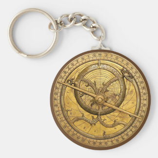 Antique Astrolabe Keychain
