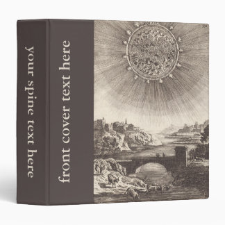 Antique Astronomy Celestial Sky with Sun by Mallet Binder