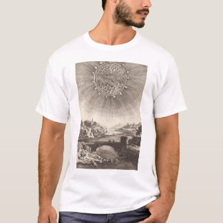 Antique Astronomy Celestial Sky with Sun by Mallet T-Shirt