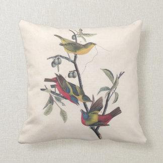 Antique Audubon Painted Bunting Pillows