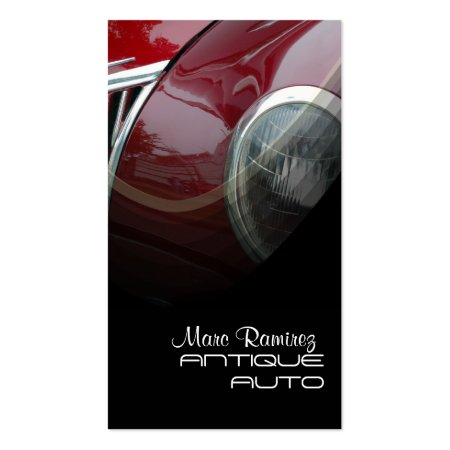 Classic Vintage Red Car Antique Auto Restoration Business Cards