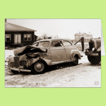 Antique Automobile Accident Card