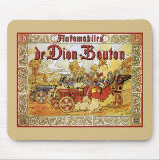 Antique autos De Dion Bouton playing cards theme Mouse Pad