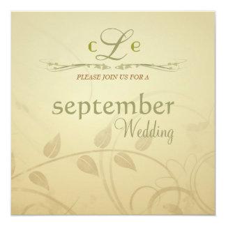 Antique Autumn Wisps - Square Wedding Invitations