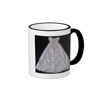Antique Ayrshire Lace Chrstening gown Ringer Mug