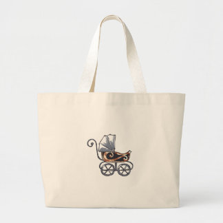ANTIQUE BABY CARRIAGE TOTE BAGS