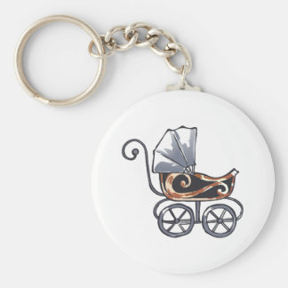 ANTIQUE BABY CARRIAGE KEY CHAIN