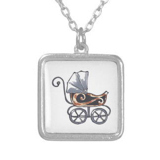 ANTIQUE BABY CARRIAGE CUSTOM NECKLACE