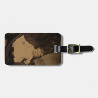 Antique Baby Photo Tags For Bags