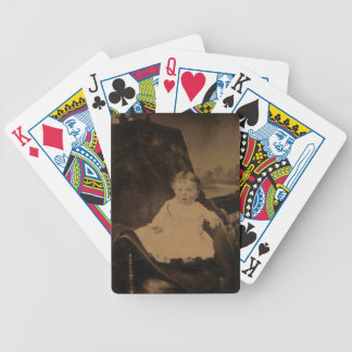 Antique Baby Photo (Tintype) Bicycle Card Deck