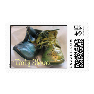 Antique Baby Shoes Stamp