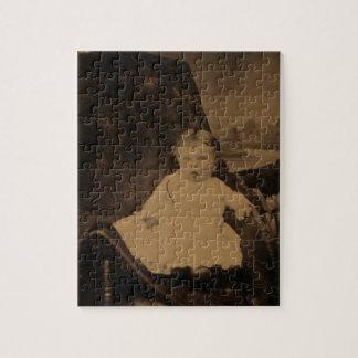 Antique Baby Tintype Puzzle
