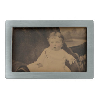 Antique Baby With Tinted Cheeks Belt Buckle