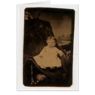 Antique Baby With Tinted Cheeks Card