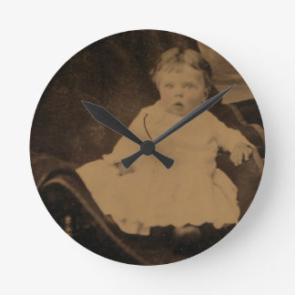 Antique Baby With Tinted Cheeks Clock