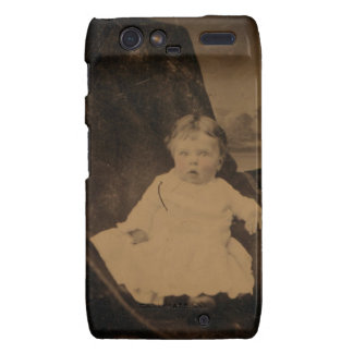 Antique Baby With Tinted Cheeks Droid RAZR Covers