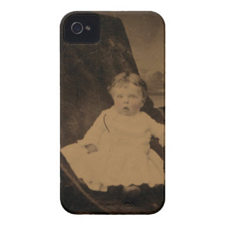 Antique Baby With Tinted Cheeks iPhone 4 Cases