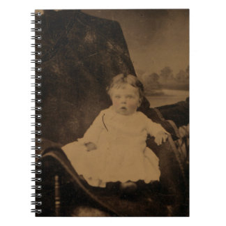 Antique Baby With Tinted Cheeks Journal