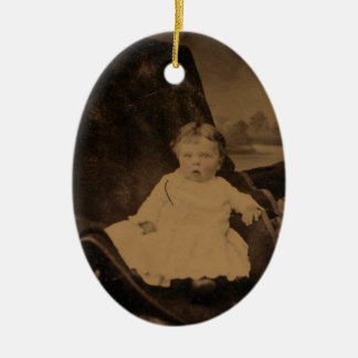 Antique Baby With Tinted Cheeks Christmas Tree Ornaments