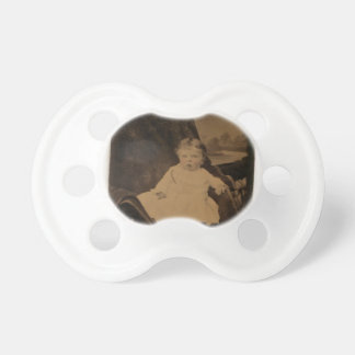 Antique Baby With Tinted Cheeks Pacifier