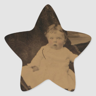 Antique Baby With Tinted Cheeks Stickers