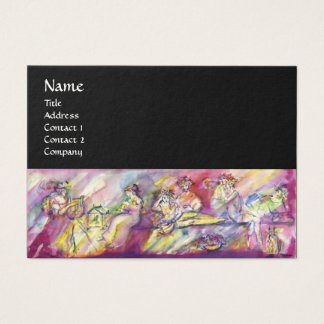 ANTIQUE BACCHANAL SCENE WITH MUSIC BUSINESS CARD