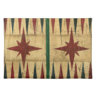 Antique Backgammon Game Board by Ethan Harper Cloth Placemat