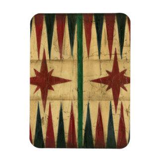 Antique Backgammon Game Board by Ethan Harper Magnet