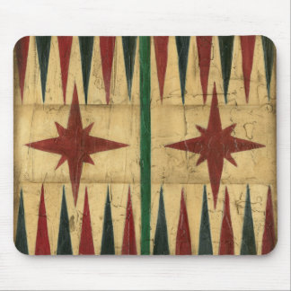 Antique Backgammon Game Board by Ethan Harper Mouse Pad