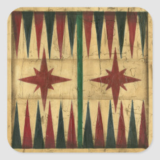Antique Backgammon Game Board by Ethan Harper Sticker