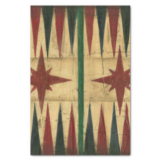 Antique Backgammon Game Board by Ethan Harper Tissue Paper