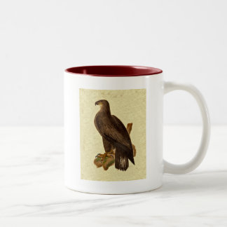 Antique Bald Eagle Natural History J.W. Hill Print Two-Tone Coffee Mug
