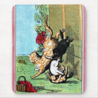 Antique BallantyneThree little kittens Mouse Pad
