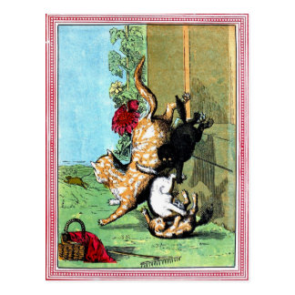 Antique BallantyneThree little kittens Postcard