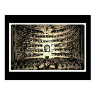 Antique ballet Scala Milan black and white photo Postcard
