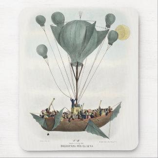Antique Balloon Air Ship Mouse Pad