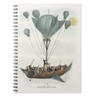 Antique Balloon Air Ship Notebook