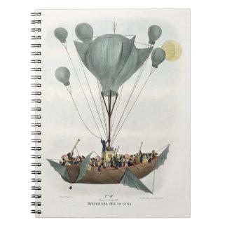 Antique Balloon Air Ship Notebook