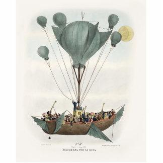 Antique Balloon Air Ship Photo Statuette