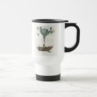 Antique Balloon Air Ship Travel Mug